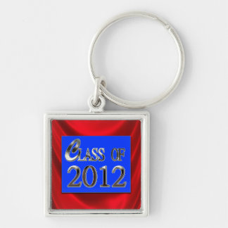 Red, Blue & Silver Class Of 2012 Grad Keychain