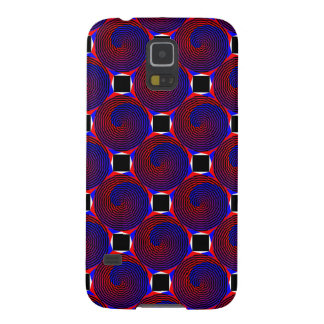 Red & Blue Spiral Case For Galaxy S5