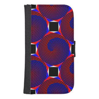 Red & Blue Spiral Phone Wallet Case