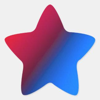 Red Blue Star Sticker