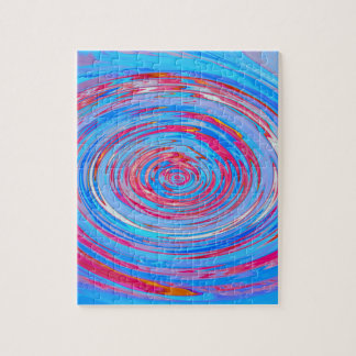 Red & Blue Swirl Puzzle