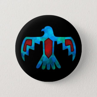 Red & Blue Thunderbird Button