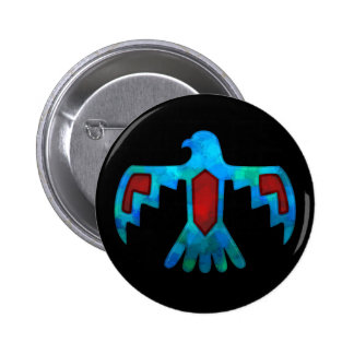 Red & Blue Thunderbird Button