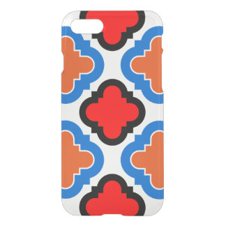Red blue Tile iPhone 7 Case