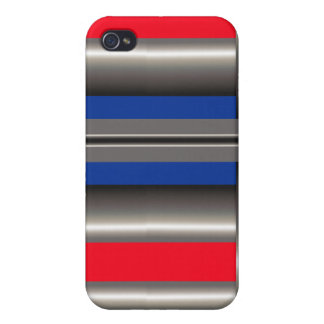 Red Blue white  iPhone 4 Case