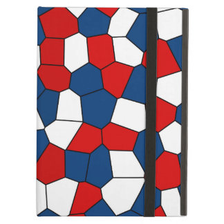 Red Blue White Pattern iPad Air Cover