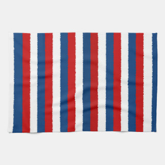 Red Blue White Pattern Tea Towel