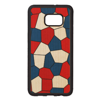 Red Blue White Pattern Wood Samsung Galaxy S6 Edge Case