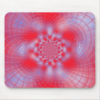 Red Blue White Spiral Mousepad