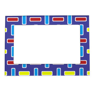 Red Blue Yellow Rectangles Weave 2 ©AH2017 Magnetic Frame