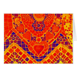 red blue yellow reverse mosaic card