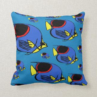 Red, Blue & Yellow Sunfish Cushion