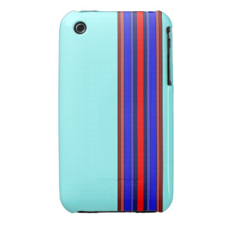 Red/Blues Vertical Stripes Case iPhone 3 Cover