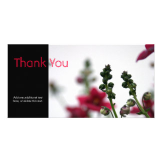 Red blur - Floral Photography Card