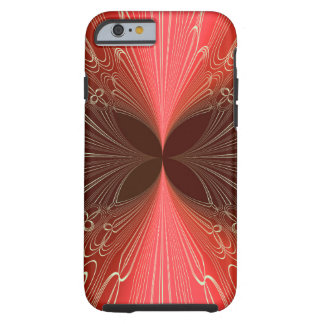 Red Board Futuristic Cyber Abstract Lasers Tough iPhone 6 Case