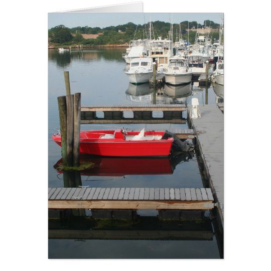 Red boat at Gloucester Card