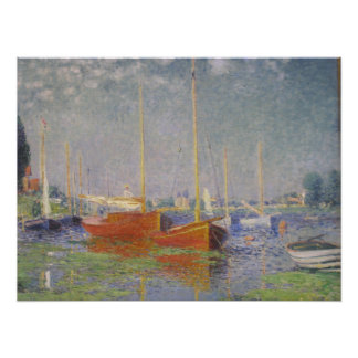 Red Boats at Argenteuil by Claude Monet Photo Print