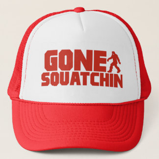 Red Bobo GONE SQUATCHIN Hat Finding Bigfoot