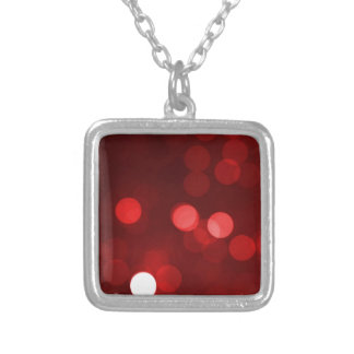 Red Bokeh Necklace