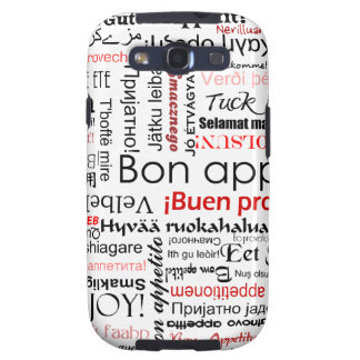Red Bon appetit in many different languages Galaxy SIII Cases