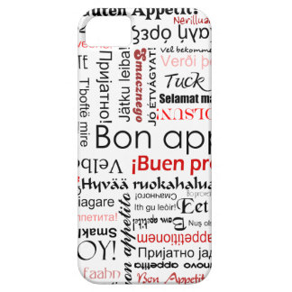 Red Bon appetit in many different languages iPhone 5 Cases