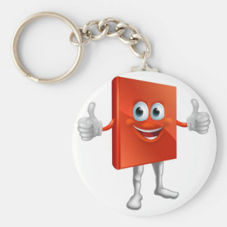 Red book man doing thumbs up key chain