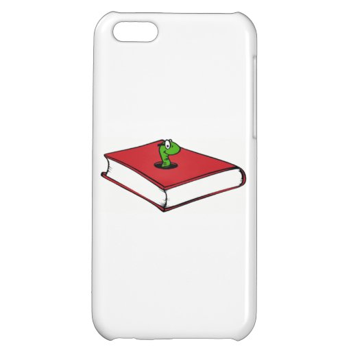 Red Book Worm Cover For iPhone 5C