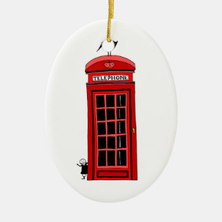 Red Booth Christmas Ornament