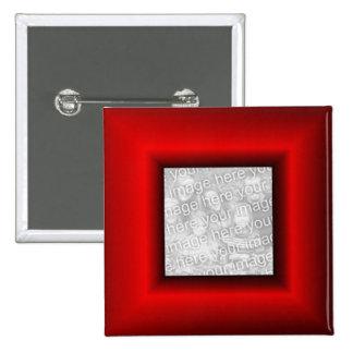 Red Border 15 Cm Square Badge