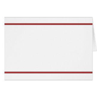 Red Border (landscape) Card