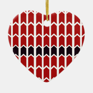 Red Bordered Panel Fence Ceramic Heart Decoration