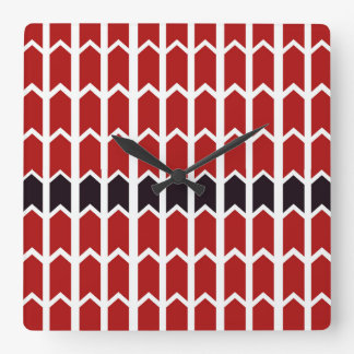 Red Bordered Panel Fence Wallclock