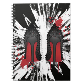 Red Bottoms Stilettos shoes heels spatters & drips Note Books