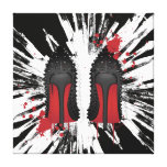 Red Bottoms Stilettos shoes heels spatters & drips Stretched Canvas Prints