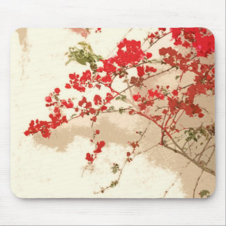 Red Bougainvillea Flowers Mousepad