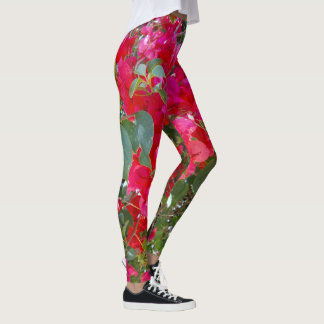 Red Bougainvilleas, Leggings