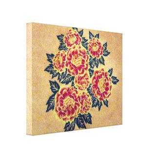red bouquet canvas gallery wrap canvas