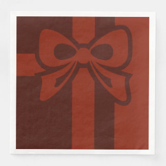 Red Bow - Christmas - Paper Napkin