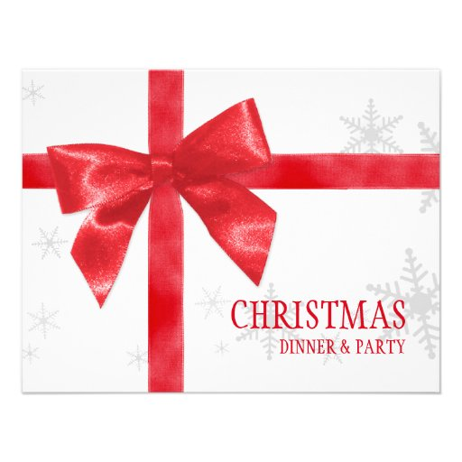 Red Bow Christmas Party invitation