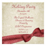 Red Bow Holiday Invitation