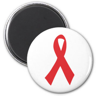 red bow icon 6 cm round magnet