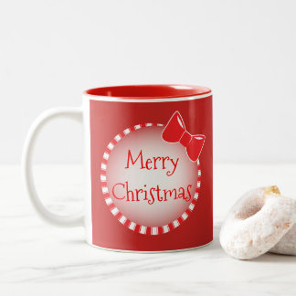 Red Bow Merry Christmas | Photo Coffee Mug