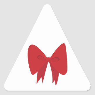 Red Bow Triangle Sticker