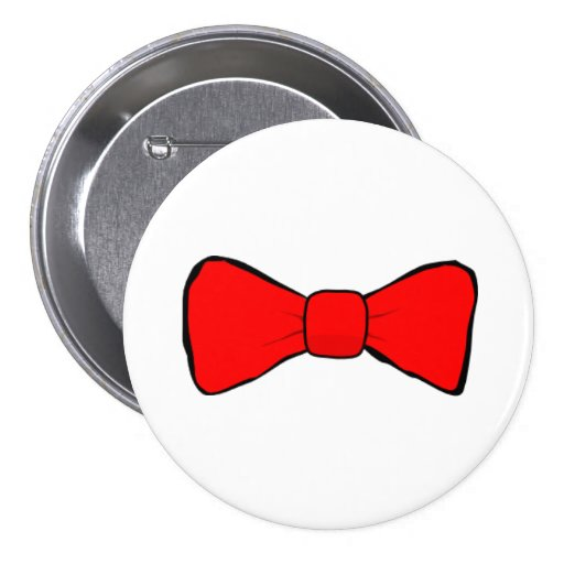 Red Bow Tie Pinback Buttons