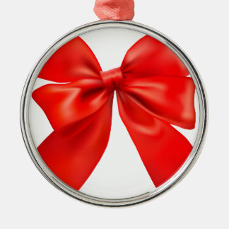 Red bow tie design christmas ornament