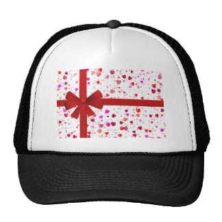 Red Bow Tie Destiny Congratulations Party Mesh Hat