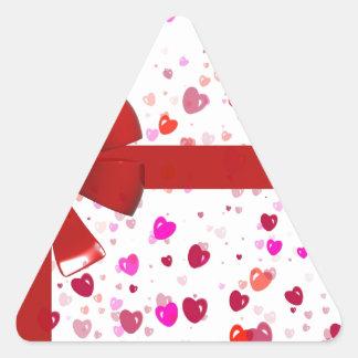 Red Bow Tie Destiny Congratulations Party Triangle Sticker