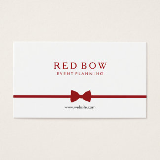 Red Bow Tie Event Planner