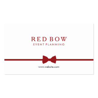 Red Bow Tie Event Planner Pack Of Standard Business Cards