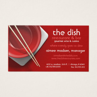 red bowl restaurant business card